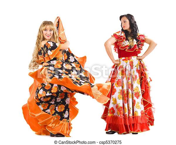 stock bilder von frau tanz zwei zigeuner kost m. Black Bedroom Furniture Sets. Home Design Ideas