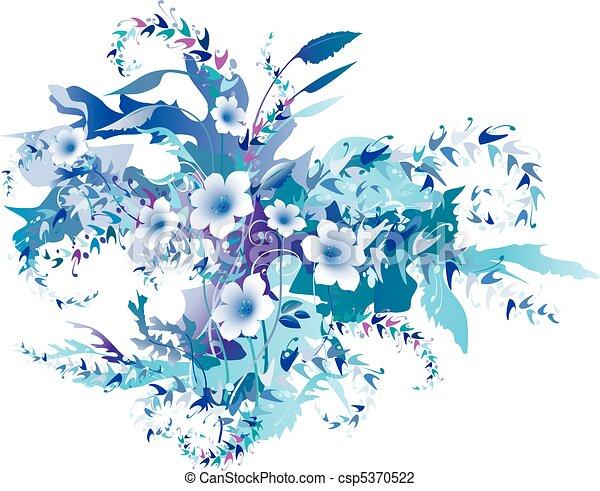 Delicate Floral Frozen - csp5370522