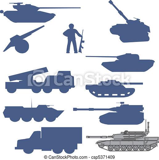 set tanks collection - vector - csp5371409