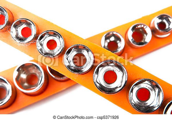 hex socket set isolated on white - csp5371926