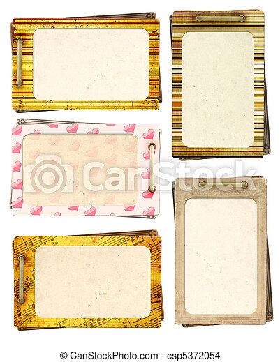Collection old cards for scrapbooking - csp5372054