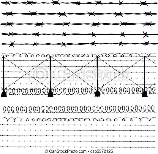 Barbed Wire  Fence Csp5372125  C