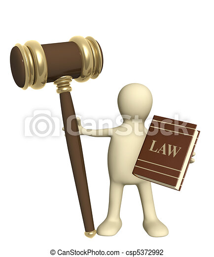 Clip Art of Judicature - Puppet with code of laws ...