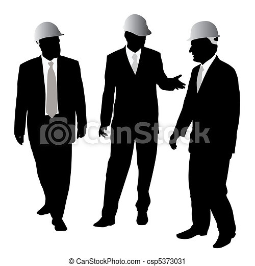 Businessmen with protective helmet - csp5373031