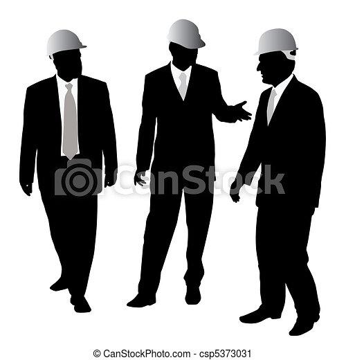 Businessmen with protective helmet - csp5373031