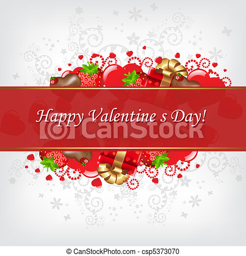 Valentines Day Card - csp5373070