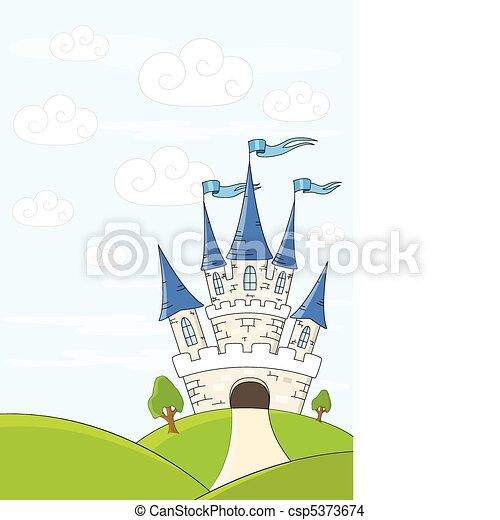 Fantasy castle - csp5373674