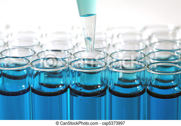 Medical Research Test Tubes - csp5373997
