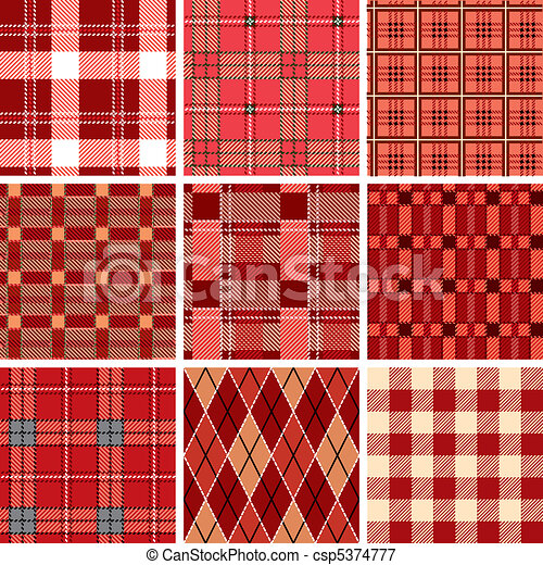 Seamless red check pattern - csp5374777