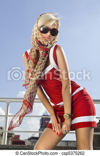 High fashion happy woman - csp5375262