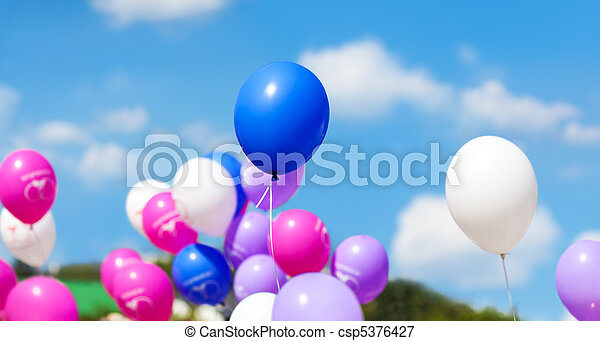 Holiday balloons - csp5376427