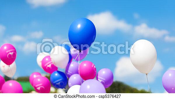 Holiday balloons - csp5376427