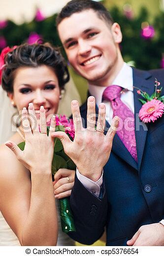coppia, giovane, matrimonio - csp5376654