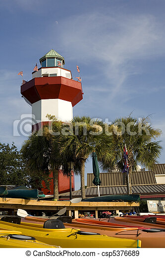 Harbor Town Lighthouse in Hilton Head - csp5376689