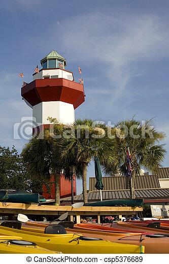 Harbor Town Lighthouse in Hilton Head - csp5376689