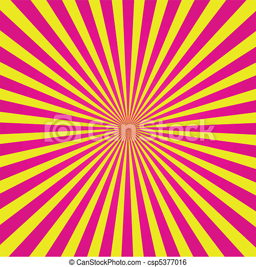 Pink and Yellow Sunburst - csp5377016