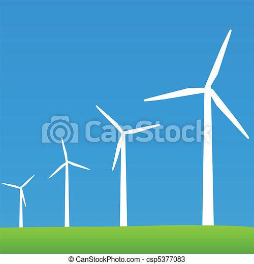 Eco Wind Power Turbines - csp5377083