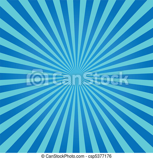 Blue Sunburst - csp5377176
