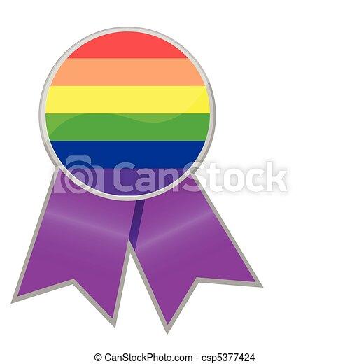 Pride Support Ribbon - csp5377424