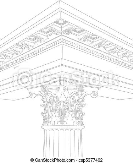 Vettore - greco, corinzio, colonna - archivi di illustrazioni