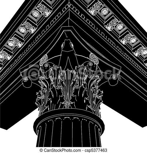 Greek Corinthian Column - csp5377463