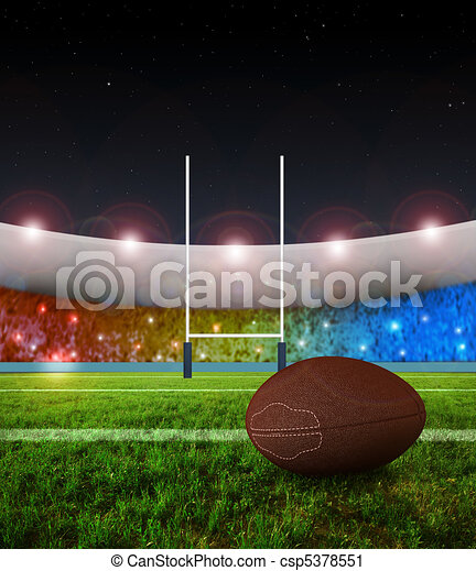 Rugby penalty kick - Night - csp5378551