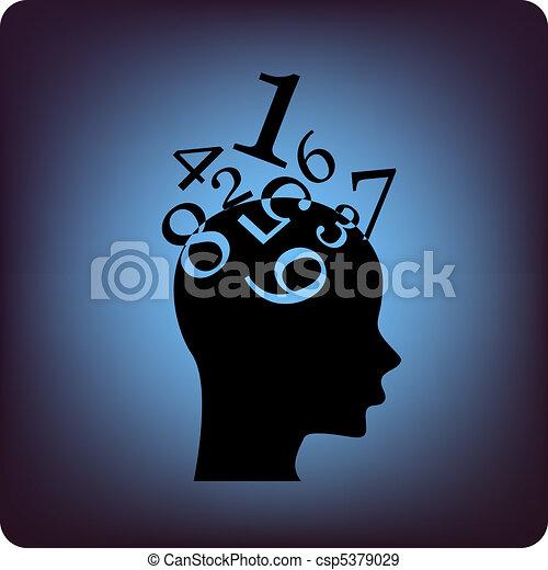 Math brain - csp5379029