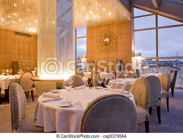 interior of restaurant - csp5379564