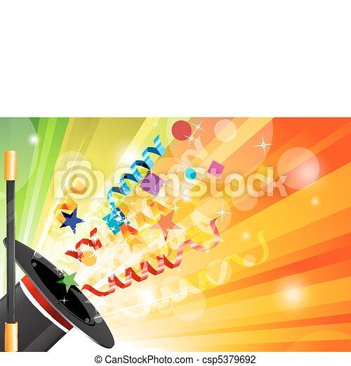 magic hat with stick - csp5379692
