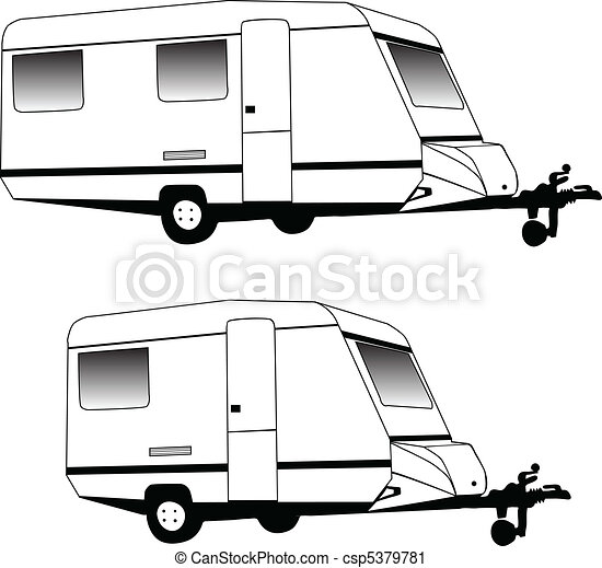 Camping trailer - csp5379781