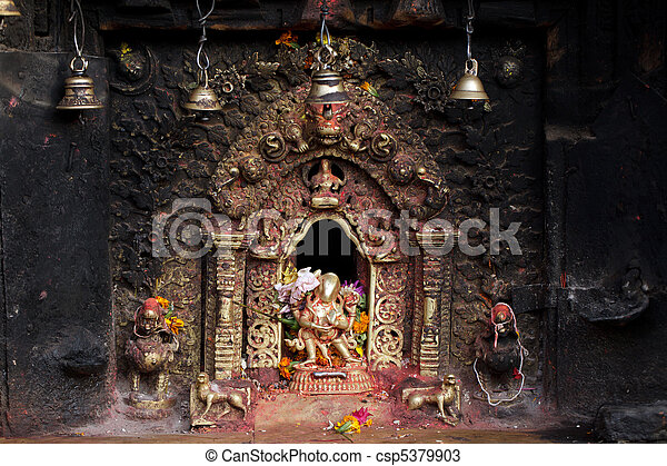 hindu sacred altar - csp5379903