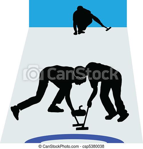 Curling sport - csp5380038