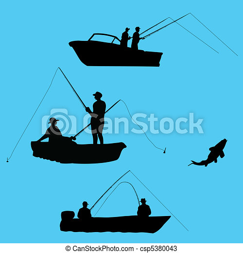 Fishermen from boat - csp5380043