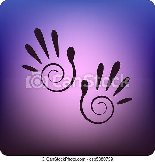 Spiral hand prints - csp5380739