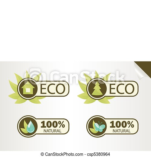 Natural and Eco Labels - csp5380964