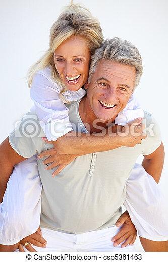 Happy mature couple - csp5381463