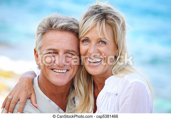 Happy mature couple - csp5381466
