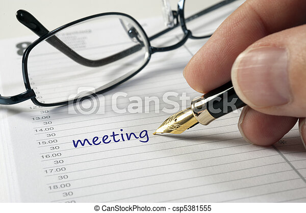 meeting date in calendar - csp5381555