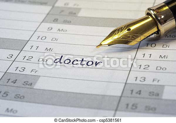 doctor date in calendar - csp5381561
