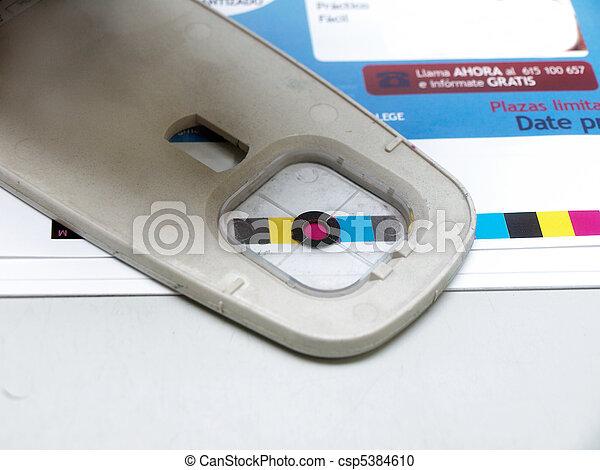 densitometer in a printer workshop - csp5384610