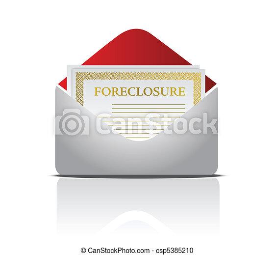 Real estate foreclosure notice lett - csp5385210