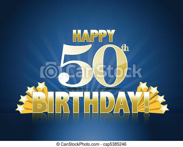 Happy 50th birthday - csp5385246