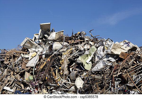Scrap metal at dump - csp5385578