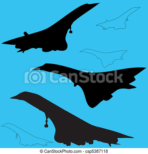 Concord aircraft silhouettes - csp5387118