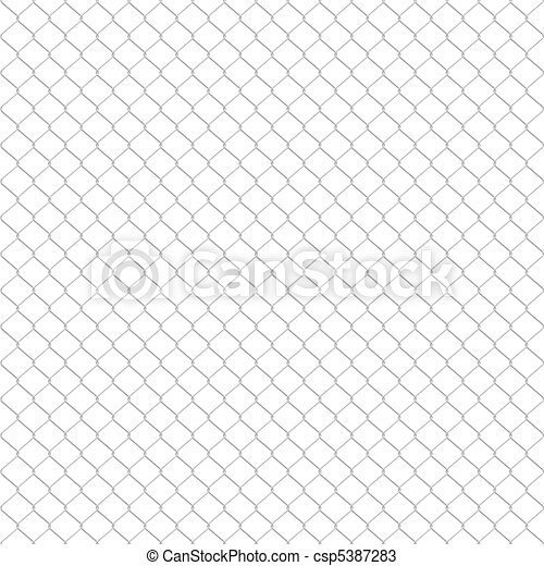 Galvanized wire fence - csp5387283