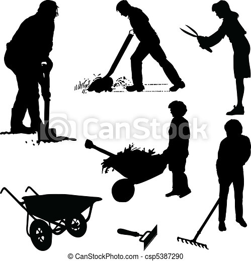 Gardeners and tools - csp5387290