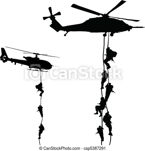 Helicopter landing - csp5387291