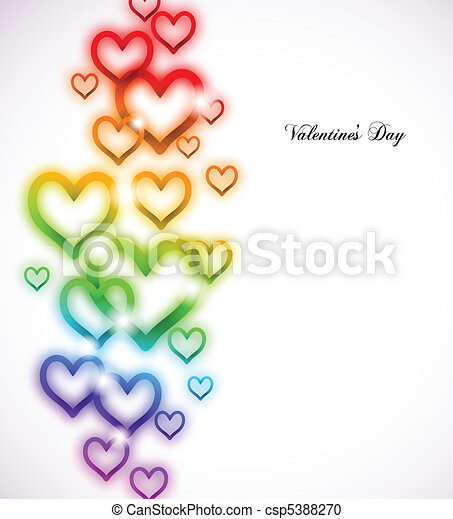 Rainbow Heart with Sparkles on white. Vector - csp5388270