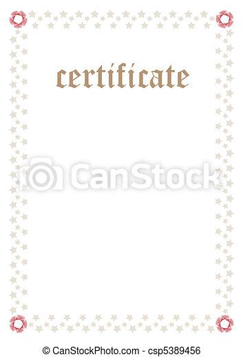 Certificate Template — Fill & Print Series - csp5389456