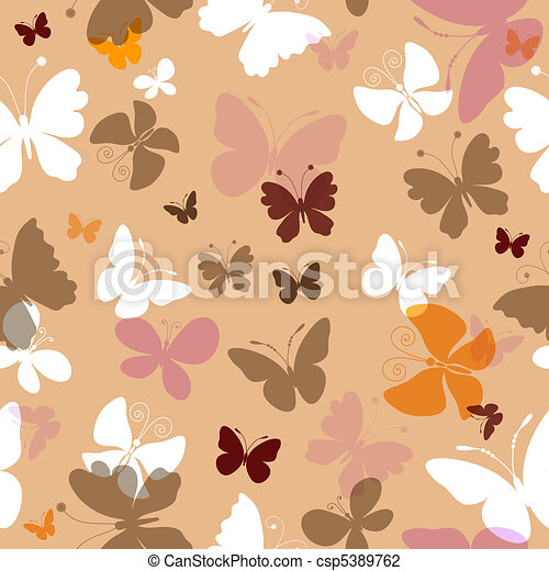 Repeating pattern with butterflies - csp5389762